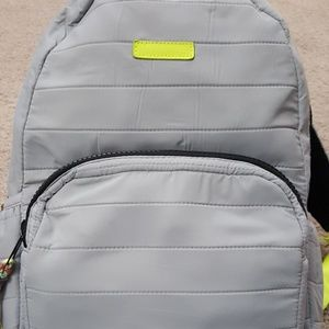 Backpack Gray Green Quilted No Boundaries